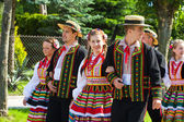 "LOCHOW, POLAND -JUNE 25, 2011: The International Folklore Meetings ""Kupalnocka"" is a festival, which is listed in the calendar of cultural events Mazovia as colorful artists and public meetings devote — Stock Photo"