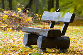 Lonely bench in the park — Foto Stock