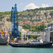 Stock Photo: Container ship at the Port Balchik of Bulgaria