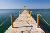 Pier over wateren — Stok fotoğraf