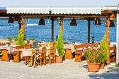 Restaurante ao ar livre, bulgária — Foto Stock