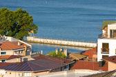 Old port quay in Balchik town in north Bulgarian Black sea coast — Stock Photo