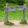 Stock Photo: Old wooden stocks