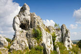 Jurassic limestone rocks - Polish Jura, Poland — Stock Photo