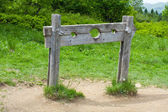 Old wooden stocks — Stock Photo