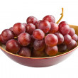Sweet pink grapes isolated on white background  — Stok fotoğraf