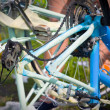 Bicycle Maintenance- oiling the chain — Stock Photo
