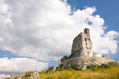 Ruins of medieval castle Mirow in Poland — Stock Photo