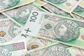 Seamlessly tileable and repeatable 100's PLN (polish zloty) currency — Stock Photo