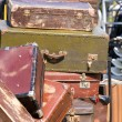 Pile of old vintage suitcases - luggage — Stock Photo #31180281