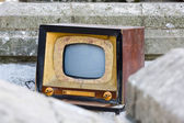 Old TV, retro style colors — Stock Photo