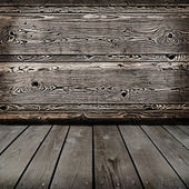 Old wooden interior. Ready for product montage display. — Stock Photo
