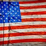 Closeup of grunge American flag — Stock Photo #33696903