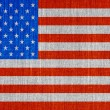 Closeup of grunge American flag — Stock Photo
