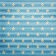 Lined paper with stars — Stock Photo