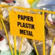 Foto de Stock  : Recycling garbage and reusable waste management