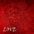 "Red Velvet Background with word ""love"" — Stock Photo"