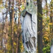 Statue at cemetery — Stock Photo