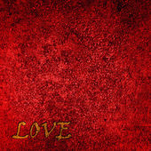 """Red Velvet Background with word """"love"""" — Stock Photo"""