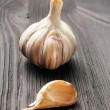 Stock Photo: Organic garlic