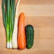 Vegetables on the cutting board — Stock Photo #37027703