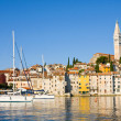 The Pier and the City of Rovinj on Istria Peninsula in Croatia — Stock Photo