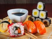 Sushi japonés mariscos — Foto de Stock