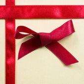 Decorative gift box with ribbon — Stock Photo