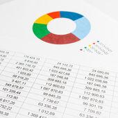 金融图表 — 图库照片