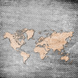 Stock Photo: Grunge map of the world