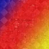 Color grunge checkered background — Stock Photo