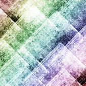 Geometric grunge colorful background with squares — Stock Photo