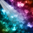 Stock Photo: Bright colorful valentines day bokeh background