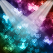 Bright colorful valentines day bokeh background — Stock Photo