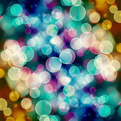 Bright colorful circles with bokeh background — Stockfoto