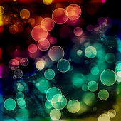 Bright colorful circles with bokeh background — Stok fotoğraf