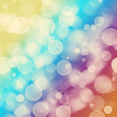 Bright colorful circles with bokeh background — Foto Stock