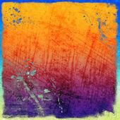 Färgglada repad vintage bakgrundカラフルな傷ビンテージ背景 — ストック写真