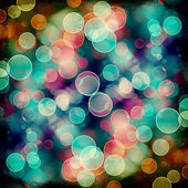 Bright colorful circles with bokeh background  — Stock Photo