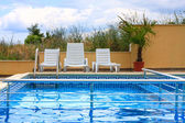Bazén modrý — Stock fotografie