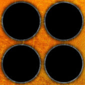 Grunge 圆圈背景 — 图库照片