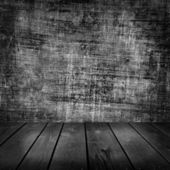 Old room and wooden floor — Stock Photo