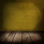 Room with color wall and wooden floor  — Stock fotografie