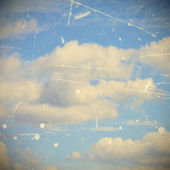 Cloudy sky, grunge and vintage image — Stock Photo