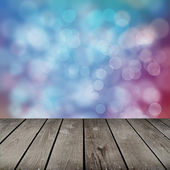 Room with colorful bubbles pattern — Stock Photo