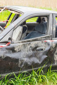Details of a car an accident  — Stock Photo