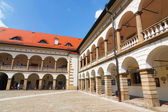 Courtyard of Niepolomice Castle, Poland  — Stock Photo