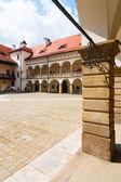 Courtyard of Niepolomice Castle, Poland  — Stock Photo