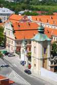 Sandomierz, Poland - MAY 23: Panorama of the historic old town, which is a major tourist attraction. MAY 23, 2014. Sandomierz, Poland.  — Stock Photo