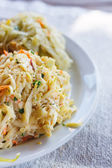 Healthy coleslaw cabbage salad.  — Stock Photo